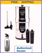 Royal Berkey Water Filter w 2 Black Filters, Sight Glass Spigot and S S Bottle
