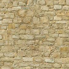 Pack de 5 Casa de Muñecas Erosionado Amarillo Piedra Modelo Revestimiento Hojas