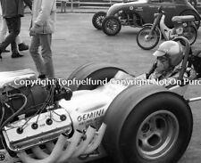 Ed Pink Connie Swingle Lions Drag Strip NHRA 8x10 Vintage Top Fuel NHRA Photo