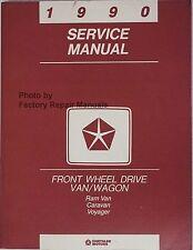 1990 Dodge Caravan Grand Voyager Factory Service Manual Original Shop Repair