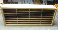 Vintage Napa Valley 28 Slot Compact Disc Holds 56 CD Wooden Desktop Storage Rack