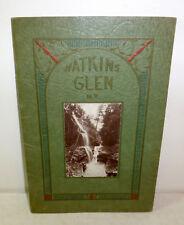 Watkins Glen, New York souvenir, tourist booklet c. 1910, waterfalls