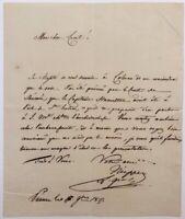 NEIPPERG ADAM Gran Maestro di Palazzo MARIA LUIGIA Parma lettera autografa 1817