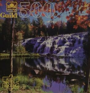 Golden Guild 500 Piece Puzzle Tumbling Waters