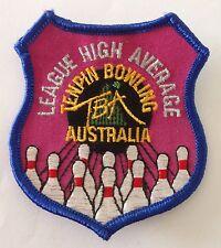 League High Average TenPin Bowling Australia Patch Badge Vintage Ten Pin (P1)