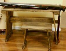 Chinese Guqin Table & Stool Set