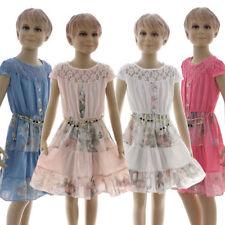 Mädchenkleider Herbsten für Party-Anlässe aus 100% Baumwolle
