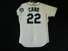 Authentic SZ 44 LARGE., SEATTLE MARINERS, ROBINSON CANO, WHITE COOL BASE Jersey