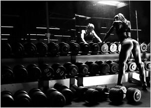 Gym Workout Muscle Sexy Girl 3 Large Poster Art Print Maxi A0 A1 A2 A3 A4