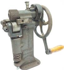 Vintage American Hand Crank Leather Splitting Skiver saddle tool St. Louis USA