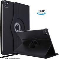 Housse Etui Noir pour Apple iPad Air 4 10.9 2020 Coque avec Support Rotatif 360°