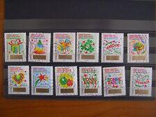 Série complète Voeux 2016 (1336 à 1347), 12 timbres