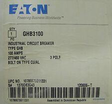 EATON CUTLER HAMMER GHB3100 3 Pole 100 Amp GHB Breaker