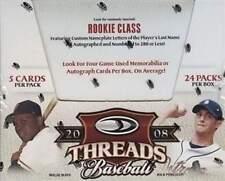 2008 Donruss Threads Baseball Sealed Hobby Box - Stanton 1st Cards & Autographs