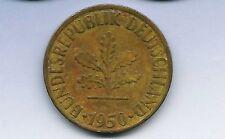 """1   Münzen   aus  BRD  10  Pfennig  1950    """" J  """""""