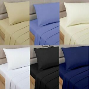 Luxury 100% Egyptian Cotton 200 Thread Count Fitted Sheets Or Complete Duvet Set