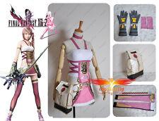 Final Fantasy 13-2 FF XIII -2  Serah Farron Cosplay Costume Custom With Bag