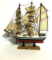 Small Sailboat Model Nautical Boat Sailing Decor for Desk or Bookshelf