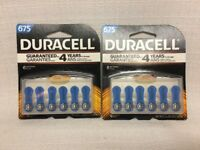 (CL) Duracell #675 Hearing Aid Batteries 2 Packs Of 6 DA675B6ZM Exp Date 2018