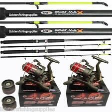 2 x Boat Fishing Rods 6ft 2pc 25lb Rods 2 Large Vigor LN 70 Lineaeffe Sea Reels