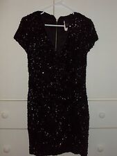 Victoria's Secret Moda Black Sequin cruise~ clubwear dress Sz 6