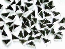 50 Tiny Mosaic Triangle Mirror Tiles 1cm x 1cm Arts Crafts