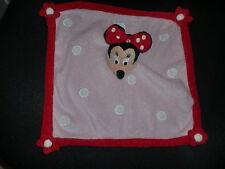 doudou plat Minnie amie Mickey rose rouge ronds blanc DISNEYLAND RESORT Disney
