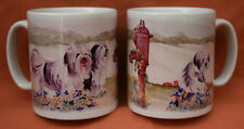 POLISH LOWLAND SHEEPDOG MUG OFF TO THE DOG SHOW WATERCOLOUR PRINT SANDRA COEN