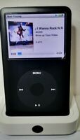 Apple iPod Classic 6th Gen 80gb ALL BLACK BESPOKE BUILT TWELVE MONTH GUARANTEE