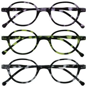 Opulize Orb Reading Glasses Small Mens Womens Spring Hinges R22
