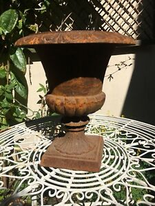 "An impressive cast iron, classical influence Victorian style urn, 12.5"" tall"