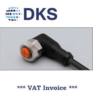 IFM  EVC008 M12 Socket Angeled 4P 5m PUR Sensor Cable 000326