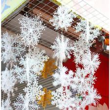 30pcs Christmas Party White Snowflake Decor For home Hanging Pendants Xmas Tree