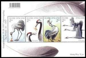Finland 1997 Bird, The Common Crane, Minisheet, MNH / UNM
