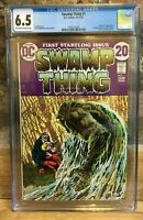 Swamp Thing #1 1972 Origin of Swamp Thing 1st Appearance of Matt Cable CGC 6.5