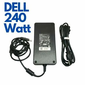 240W Dell Genuine Power Adapter for Precision Laptop 7730 7740 7750 with cord