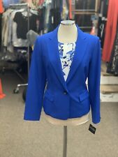 KASPER BLAZER/ROYAL/SIZE 14/NEW WITH TAG/RETAIL$99/LINED/TANK NOT INCLUDED