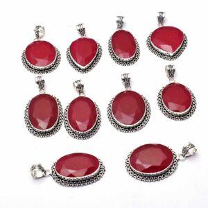 Ruby Gemstone 10 pcs Wholesale Lot Pendant Jewelry Lot-1779