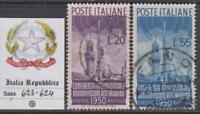 ITALY Repubblica - 1950 Radiodiffusione  cv 160$  Sassone 623-624 used