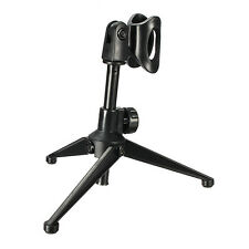 Adjustable Desktop Table Mic Microphone Clamp Clip Holder Stand Tripod Support