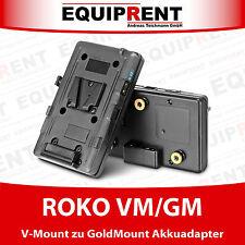 ROKO VM/GM Akkuadapter / Akkukonverter V-Mount zu GoldMount (AntonBauer) EQ976