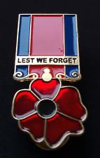 Rare World War Veteran Red Poppy Brooch Enamel Pin Badge