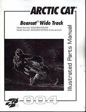 2004  ARCTIC CAT SNOWMOBILE BEARCAT WIDE TRACK PARTS MANUAL P/N 2256-887  (681)