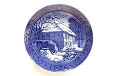 1976 Royal Copenhagen Blue Christmas Plate Mint Condition
