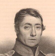 Portrait XIXe Capitaine François Sicard Thionville Moselle Ecrivain Militaire