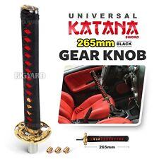 Universal 265mm JDM Black Samurai Sword MT Shift Transmission Katana Gear Knob