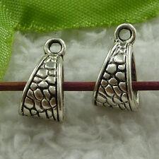 free ship 140 pcs tibet silver nice bail charms 15x7mm #3725