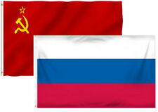 3x5 3'x5' Wholesale Combo USSR Soviet Union & Russia Russian Flag Banner