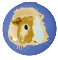 Guinea Pig Face Compact Mirror in Many Colors Guinea Pig Gifts Purple Blue