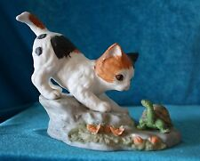 "DANBURY MINT DIVISION OF MBI  - FINEST PORCELAIN ""WHAT'S YOUR HURRY?"" KITTY"